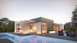 Maison moderne et piscine