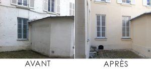 Image intervention avant/après traitement pierrasec