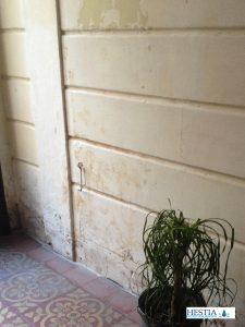 remontees capillaires entrée immeuble