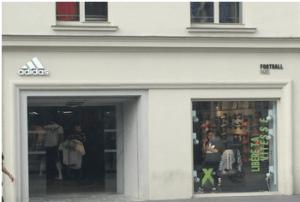 Façade de la boutique ADIDAS à Paris