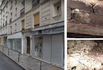 Immeuble de la rue volta à Paris et merule dans la cave